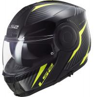 LS2 FF902 SCOPE SKID flip up helmet BLACK HiVis YELLOW