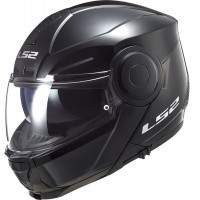LS2 FF902 SCOPE SOLID flip up helmet GLOSS BLACK
