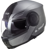 LS2 FF902 SCOPE SOLID flip up helmet MATT TITANIUM