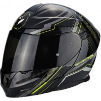 Scorpion Exo 920 flip up helmet Satellite glossy Black fluo Yellow
