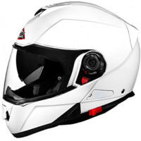 SMK Glide Basic modular helmet White