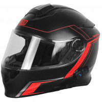 Origine modular helmet Delta Motion blak red matt