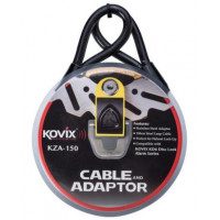 Kovix steel cable KZA 1.5m with adapter for KD6 brake lock