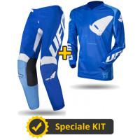 Completo cross Maglia + Pantaloni Ufo Plast INDIUM Blu