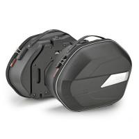 Givi WL900 pair of semi rigid side bags Monokey 25 lt Black