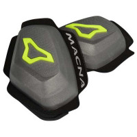 Macna Knee sliders Dark grey yellow