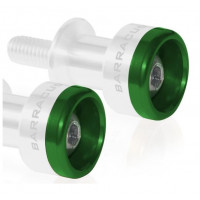 Pair of colored inserts for the Barracuda tripod support in Green aluminum