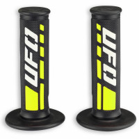 Pair of cross-enduro grips Ufo Plast Trax Yellow