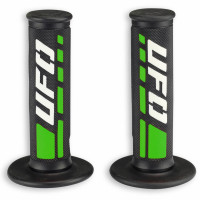 Pair of cross-enduro grips Ufo Plast Trax Verde