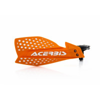 Acerbis pair of handguard cross X-Ultimate orange white