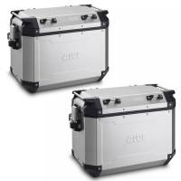 Pair of Givi OBKN Trekker Outback Monokey 48 and 37 lt aluminum cases