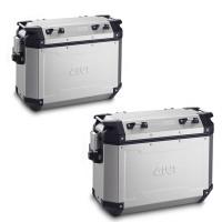 Givi OBKN37 Monokey Trekker Outback pair of side case aluminium 37 liter