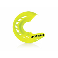 Front disc cover Acerbis 0016057 X-BRAKE Fluo yellow
