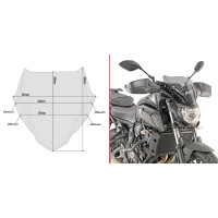 Givi A2140 smokedd fairing specific for YAMAHA MT-07