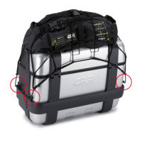 Anchor rings for Givi luggage net
