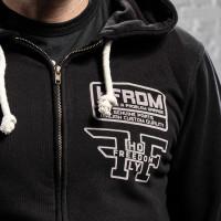 Holy Freedom FULLZIP Black  hooded sweatshirt with zip