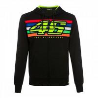 VR46 46 STRIPES full zip hoodie Black