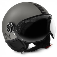 Momo Design jet helmet Fighter EVO titanium black