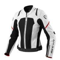 Women's leather motorcycle jacket Rev'it Galactic White