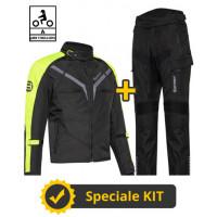 Kit Gamma CE Nero Giallo- Giacca moto certificata Befast + Pantaloni moto certificati Befast