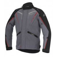 Alpinestars Yokohama Drystar motorcycle jacket dark gray black red