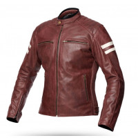 Spyke MILANO 2.0 LADY woman summer leather jacket Brown