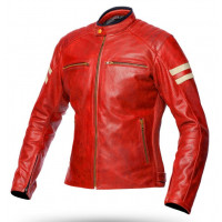 Spyke MILANO 2.0 LADY woman summer leather jacket Red