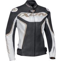 Ixon TRINITY leather lady jacket white black gold