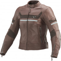 Macna Daisy leather woman jacket Brown