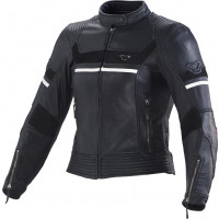 Macna Daisy leather woman jacket Black White