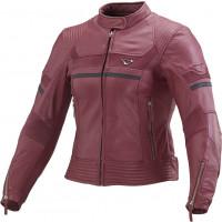 Macna Daisy leather woman jacket Red
