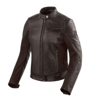 Rev'it Clare Ladies leather jacket Dark Brown