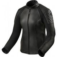Rev't Luna lady summer leather jacket black