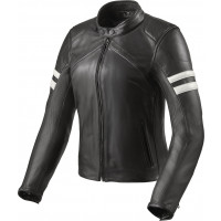 Rev'it Meridian Ladies leather jacket Black White