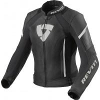 Rev'it Xena 3 Ladies leather jacket Black White