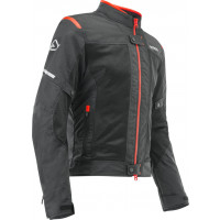 Acerbis RAMSEY VENTED CE summer jacket Black Red