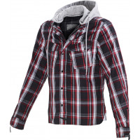 Macna Westcoast Forest summer jacket with Kevlar Black Red White