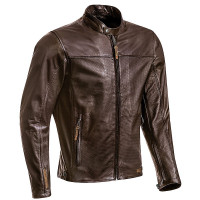 Ixon CRANK AIR summer leather jacket Brown