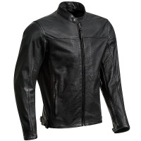 Ixon CRANK AIR summer leather jacket Black