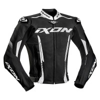Ixon VORTEX 2 summer leather jacket Black White
