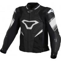 Macna Ripper leather summer jacket Black White