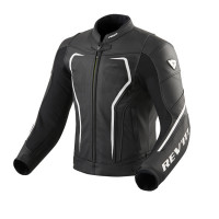 Rev'it Vertex GT leather summer Jacket Black White