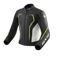 Rev'it Vertex GT leather summer Jacket Black Yellow Neon