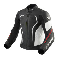 Rev'it Vertex GT leather summer Jacket Black Red