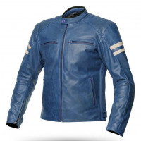 Spyke MILANO 2.0 summer leather jacket Blue