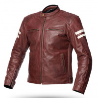 Spyke MILANO 2.0 summer leather jacket Brown