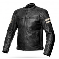 Spyke MILANO 2.0 summer leather jacket Black