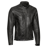 Ixon CRANK leather jacket Black