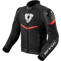 Rev'it Mantis leather jacket Black Neon Red