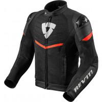 Rev'it Mantis leather jacket Black Neon Red